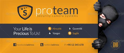 Security Systems Business Card Template by Security Systems Billboard Template By Grafilker
