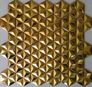 Metal Tiles Gold Metal Mosaic Stainless Steel Wall Tile Backsplash