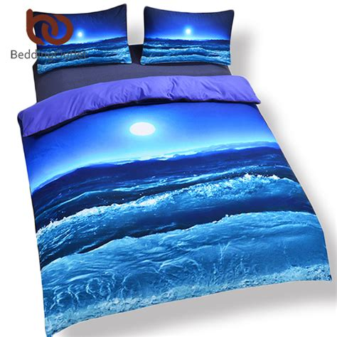 beddingoutlet moon  ocean duvet cover set bed spread