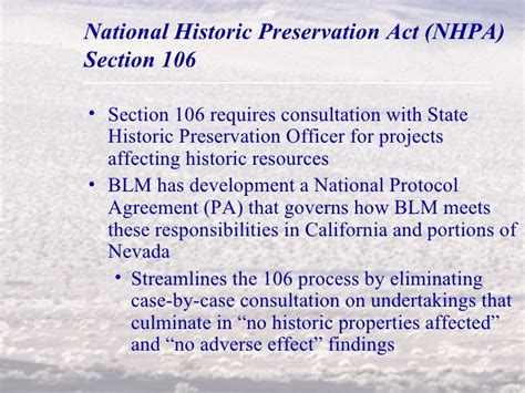 section 106 national historic preservation act permitting solar wind and geothermal projects on public