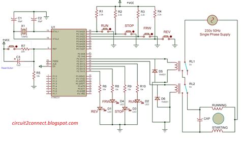 motor wiring diagram single phase with capacitor