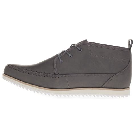 boxfresh s clyston leather mid top casual blue brown