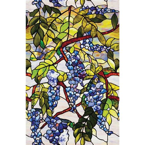 decorative window film home depot artscape 24 in x 36 in wisteria decorative window film