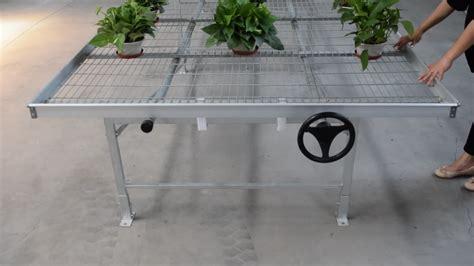 aluminum greenhouse benches extruded aluminum frame premium rolling tabletop