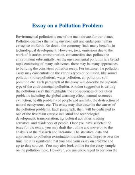 Urdu Essay On Air Pollution by Essay On Environmental Pollution In Urdu Free Essays On
