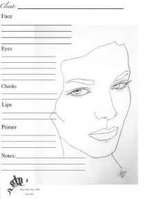 makeup charts template makeup template chart