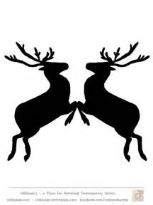 Reindeer Silhouette Outline by Reindeer Stencil Template Search Results Calendar 2015