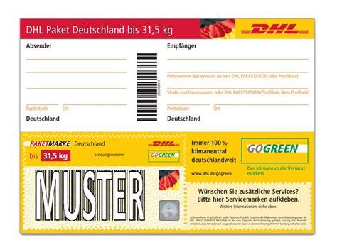 Paketschein Drucken Word by Dhl Paketmarke Deutschland Bis 31 5 Kg Shop Deutsche Post