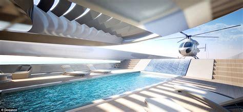 oceanco s stiletto superyacht concept has a waterfall - Motorjacht Bouwers Nederland