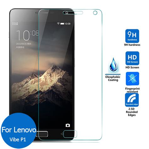 Lenovo Vibe New 2pcs lot for lenovo vibe p1 new tempered glass screen