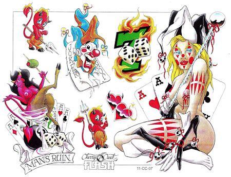 joker tattoo flash devil joker with more tattoo designs