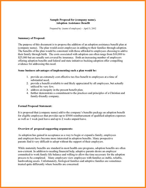 5 business plan proposal template project proposal