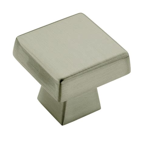 amerock square cabinet knobs amerock blackrock 1 1 2 in satin nickel square cabinet