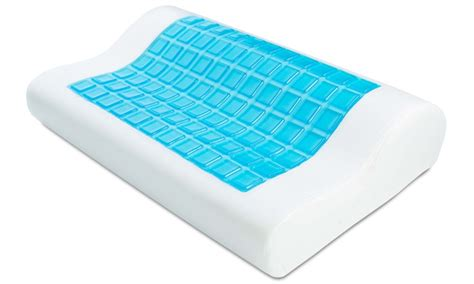 ergonomic cooling gel antimicrobial memory foam pillow
