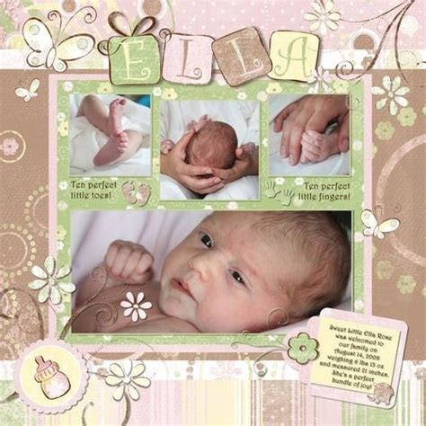 scrapbook layout baby girl this is my favorite baby girl page scrapbook paper