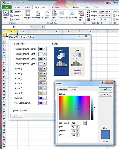 color themes excel charts in reports user experience guidelines ax 2012