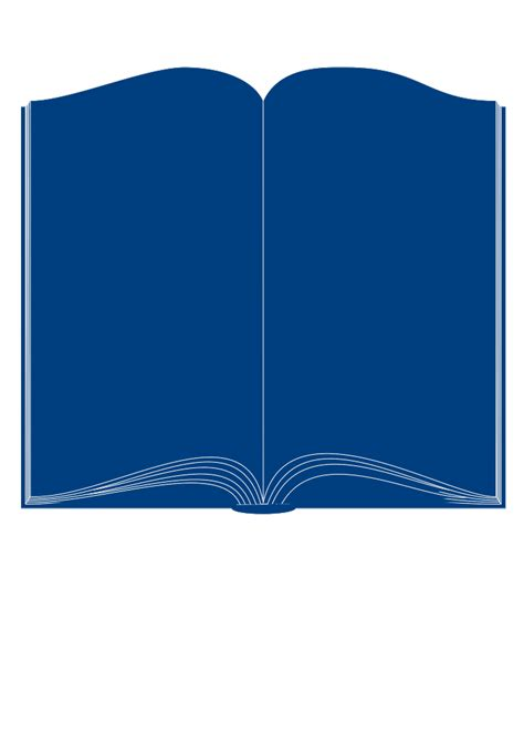 book template in open book template clipart best