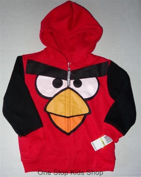 Hoodie Zip Jaket Sweater Angry Birds Anak angry birds boys 4 5 6 7 sweatshirt costume hoodie coat jacket bird ebay