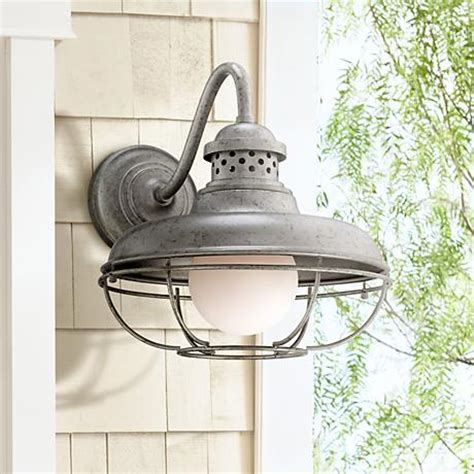 franklin park metal cage 16 quot high steel outdoor wall light
