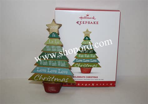 hallmark 2016 celebrate christmas inspirational tree