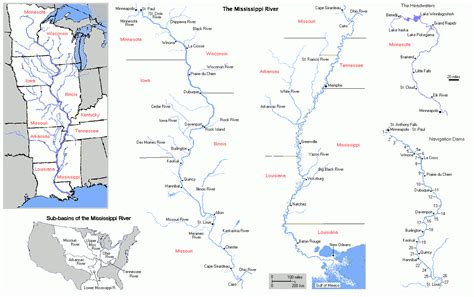 maps united states map mississippi river