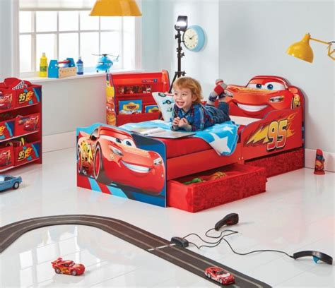 lightning mcqueen toddler bed set disney cars toddler bed with storage by hellohome