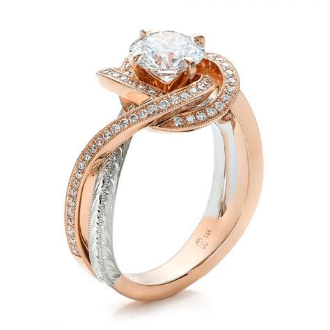 custom gold and platinum engagement ring