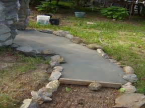 outdoor how to build diy cement walkway ideas how to