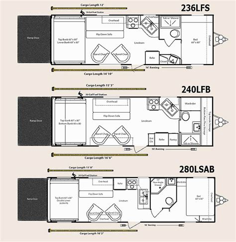 Travel Trailer Toy Hauler Floor Plans | 2010 keystone energy toy hauler travel trailer floorplans