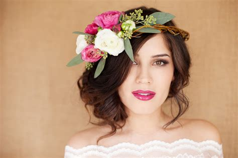 Wedding Hair With Flower Garland by Flower Hair Garland Flowers Ideas For Review
