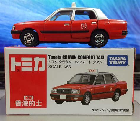 Takara Tomy Taxi Set Toyota Crown Taksi Tomica toyota crown comfort hongkong taxi by tomica