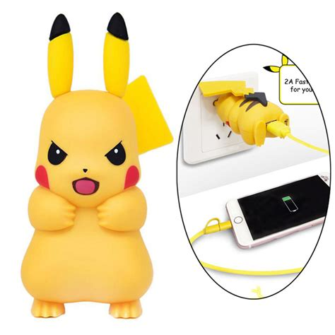 Pajangan Mobil Pikachu 1 2017 new arrival pop pikachu mobile phone adapter usb power wall charger for iphone 7 6s 6 plus
