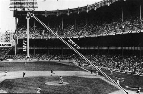 yankee stadium home run lights a half century later mickey mantle blast right the bat