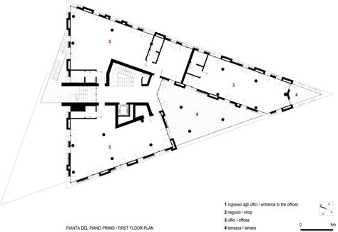 triangular house floor plans the office building by jo coenen and archisquare in parma