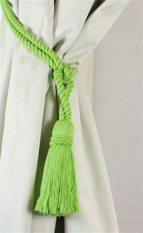 rope tassel curtain tie backs pair cotton tassel rope curtain tiebacks tie backs 12