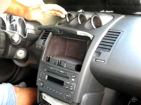 book repair manual 2003 nissan 350z navigation system how to remove radio cd changer from 2008 nissan 350 z for repair youtube