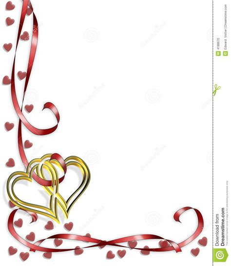 Wedding Border Hearts by Border Hearts Stock Illustration Illustration