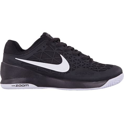 nike zoom cage 2 junior tennis shoe black white