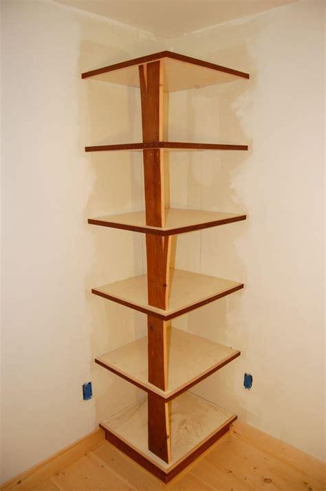 plans  build  corner bookcase wooden  knockdown