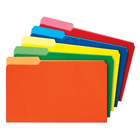 smead color file folders size 13 cut assorted colors