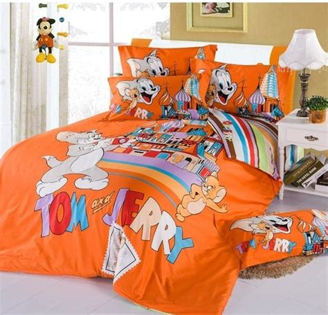 Tom And Jerry Bedding Set New Tom And Jerry Sheets Fitted Bed Sheets Bedding Sets Comforter Cover Sets Cotton