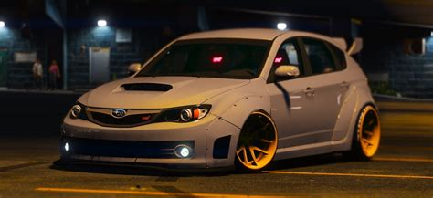 widebody subaru 2008 subaru wrx widebody add on replace gta5 mods com