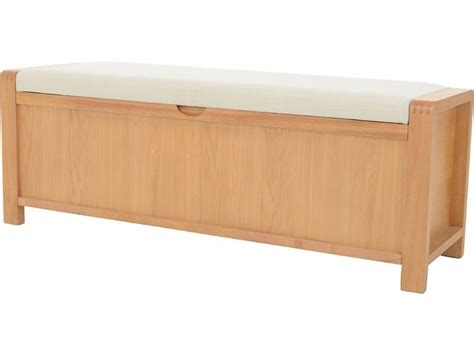 ercol bosco bedroom oak storage bench lee longlands
