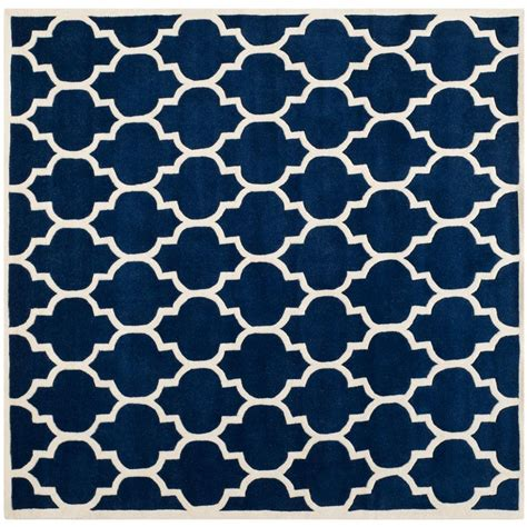 Blue Square Rug by Safavieh Chatham Blue Ivory 7 Ft X 7 Ft Square Area Rug Cht734c 7sq The Home Depot
