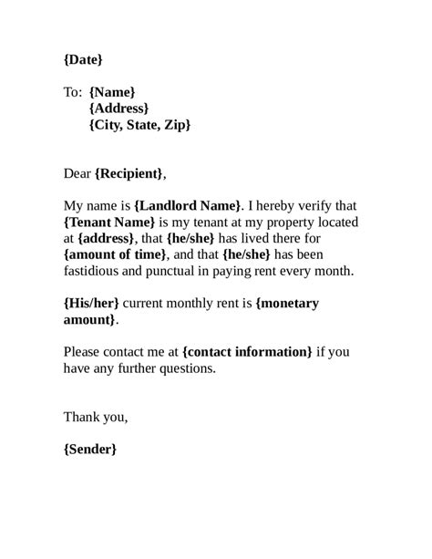 Proof Of Rent Letter From Landlord Sle 2018 proof of residency letter fillable printable pdf forms handypdf