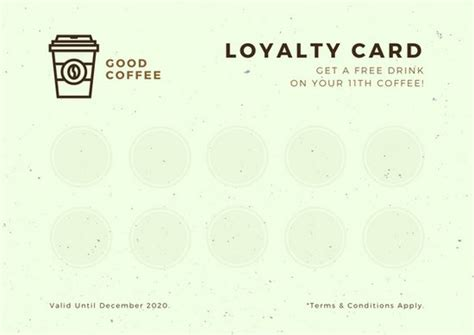 Loyalty Card Template Canva by Blue Illustration National Day Card Templates