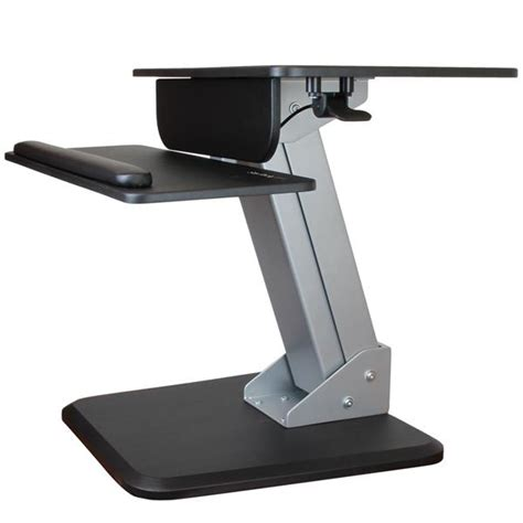 Sit To Stand Desk Sit Stand Workstation Dual Display Mount Startech