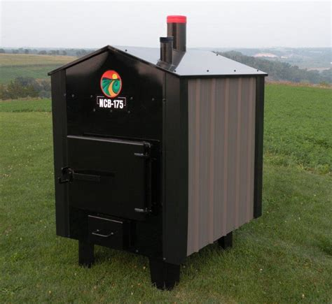 Backyard Steel Furnaces by Ncb 175 Outdoor Wood Boiler From Nature S Comfort Llc B2b