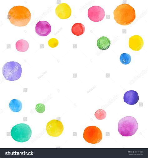 abstract splash watercolor blobs colorful vector stock