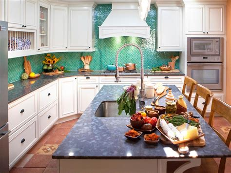 teal tile backsplash cheap kitchen countertops pictures options ideas hgtv